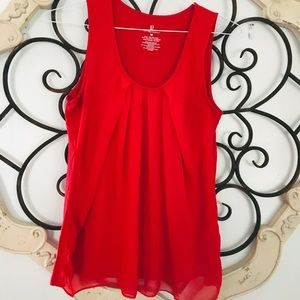 New York & Co | Red Sleeveless Blouse Top